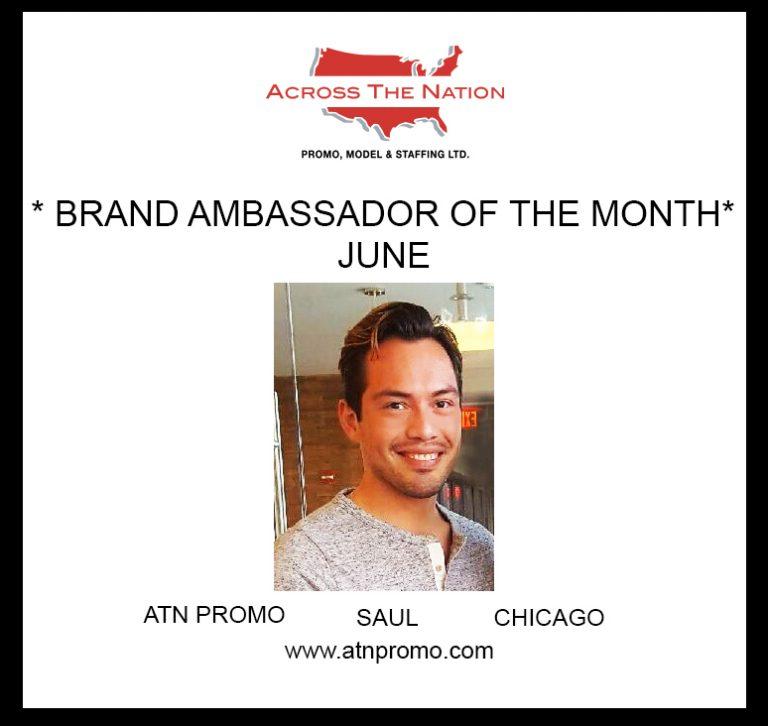 ATN Promo's Brand Ambassador of the Month - Saul