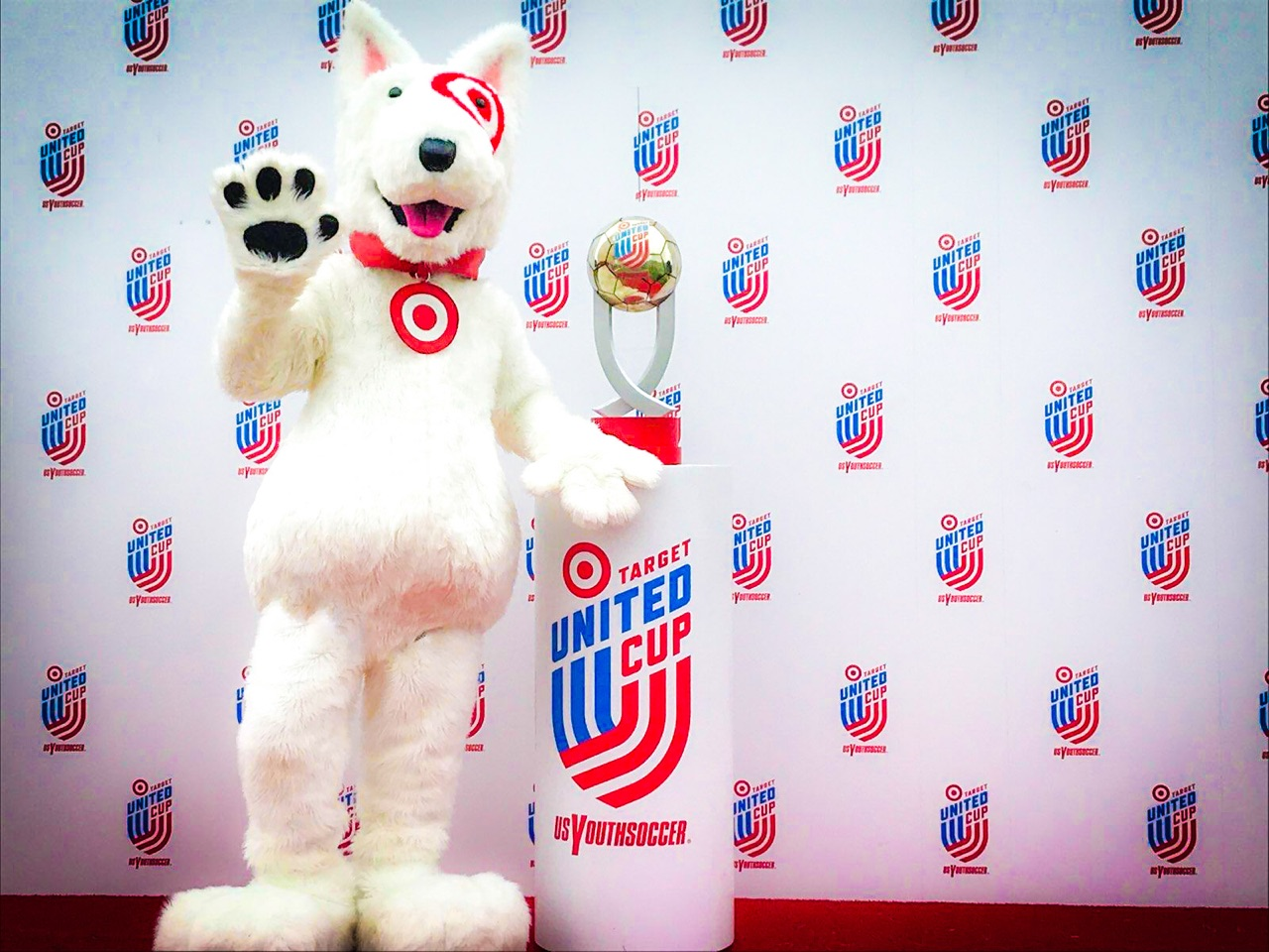 Target United Cup Brand Mascot