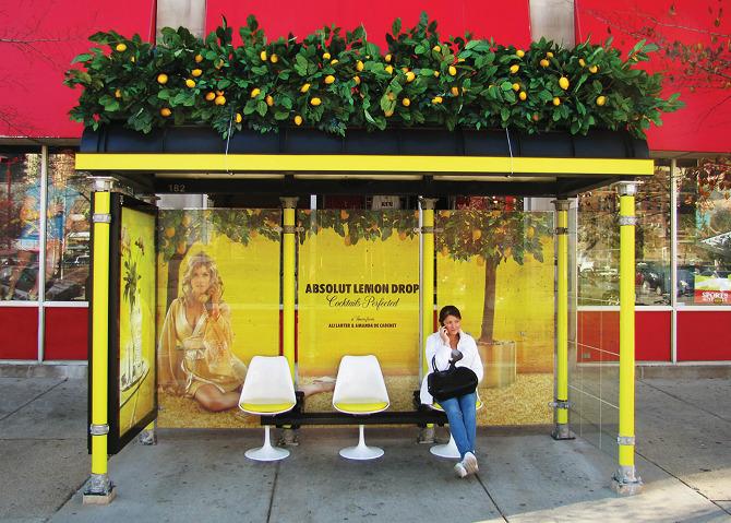 guerrilla marketing bus stop