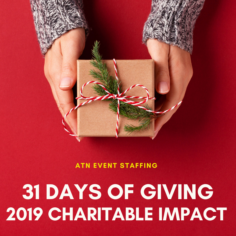 ATN Event Staffing 31 Days of Giving 2019